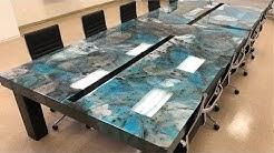 14ft Custom Made Conference Table | Metallic Epoxy