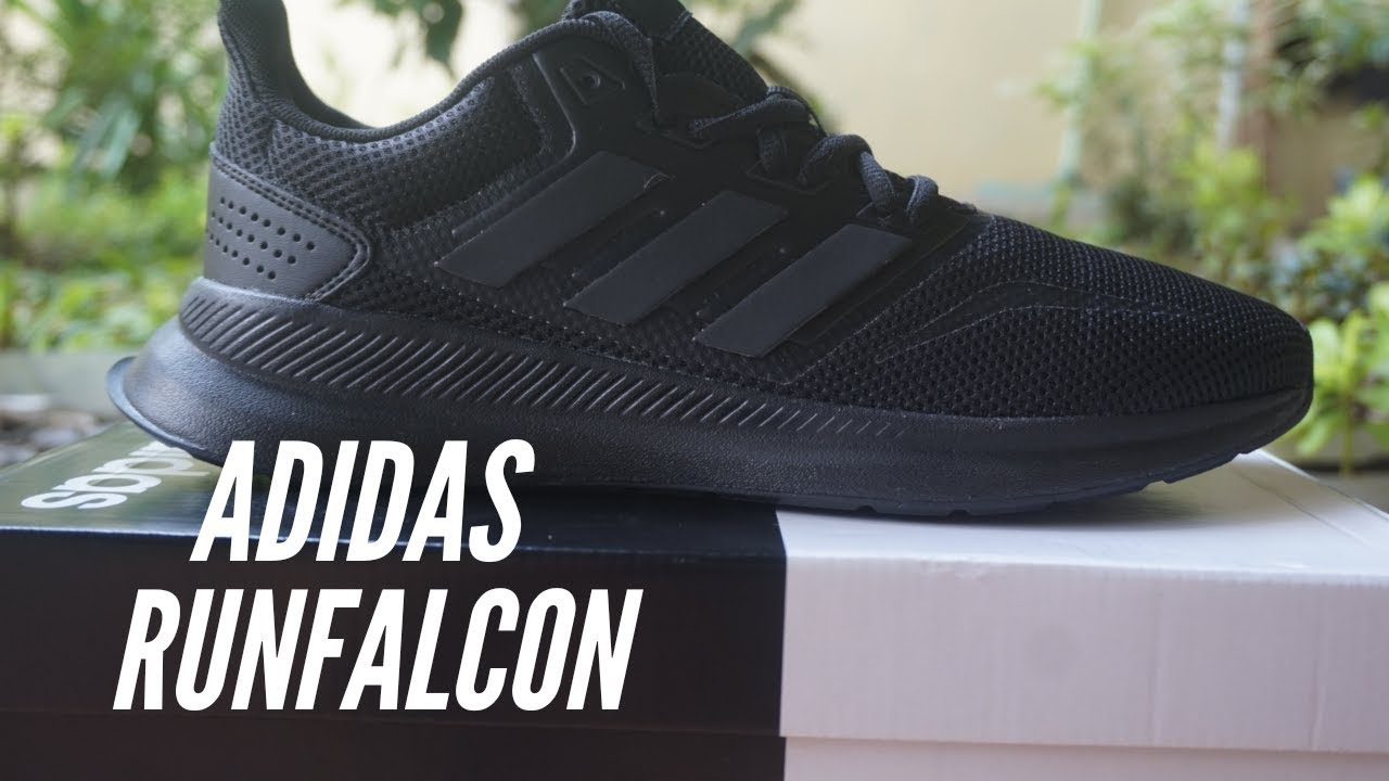 Mareo cura Groenlandia  UNBOXING Adidas Runfalcon Full Black Original made in Myanmar - YouTube