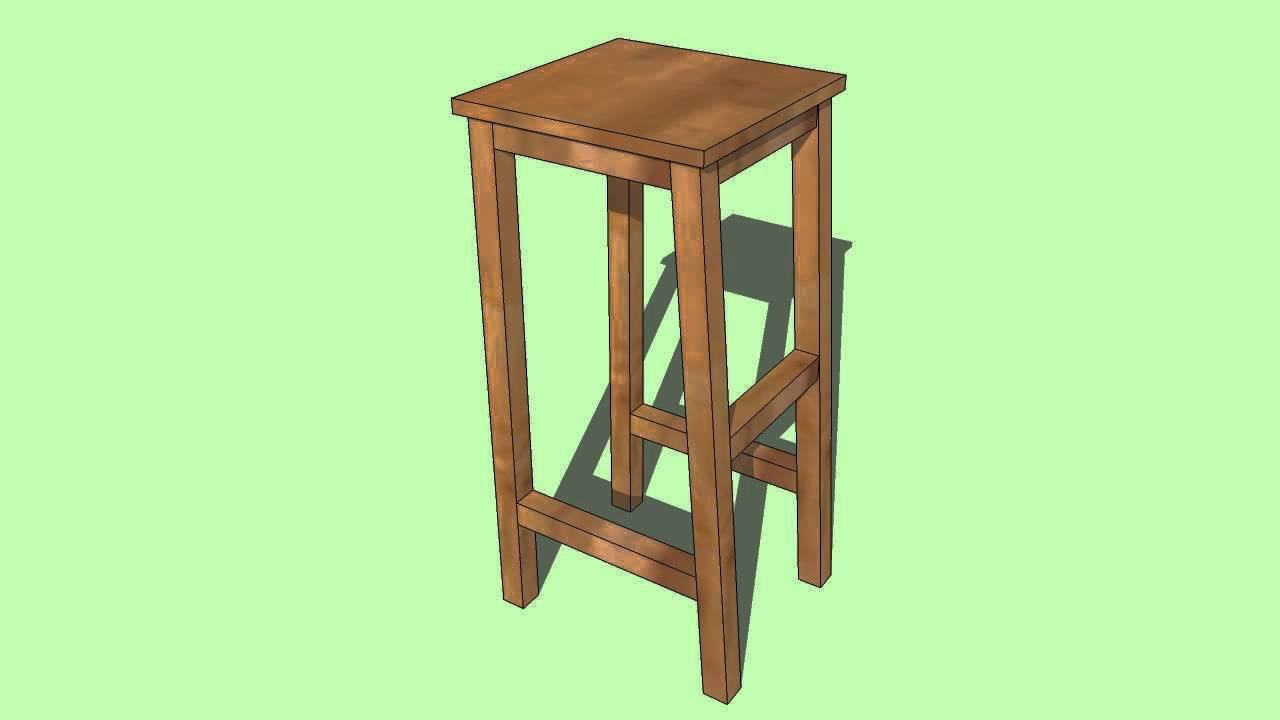 How To Build A Wooden Bar Stool Youtube
