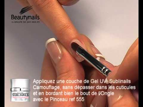 Gel Uv Sublinails Et French Manucure Sur Ongles Naturels Youtube