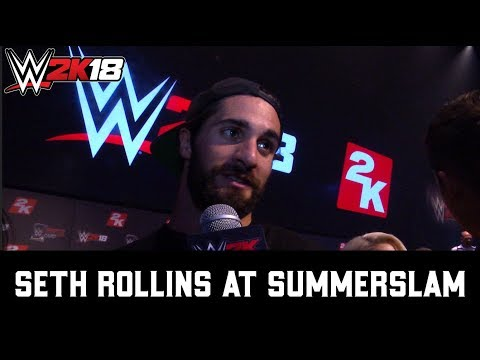 SummerSlam Interview - Seth Rollins on WWE 2K18 Cover Reveal shoot
