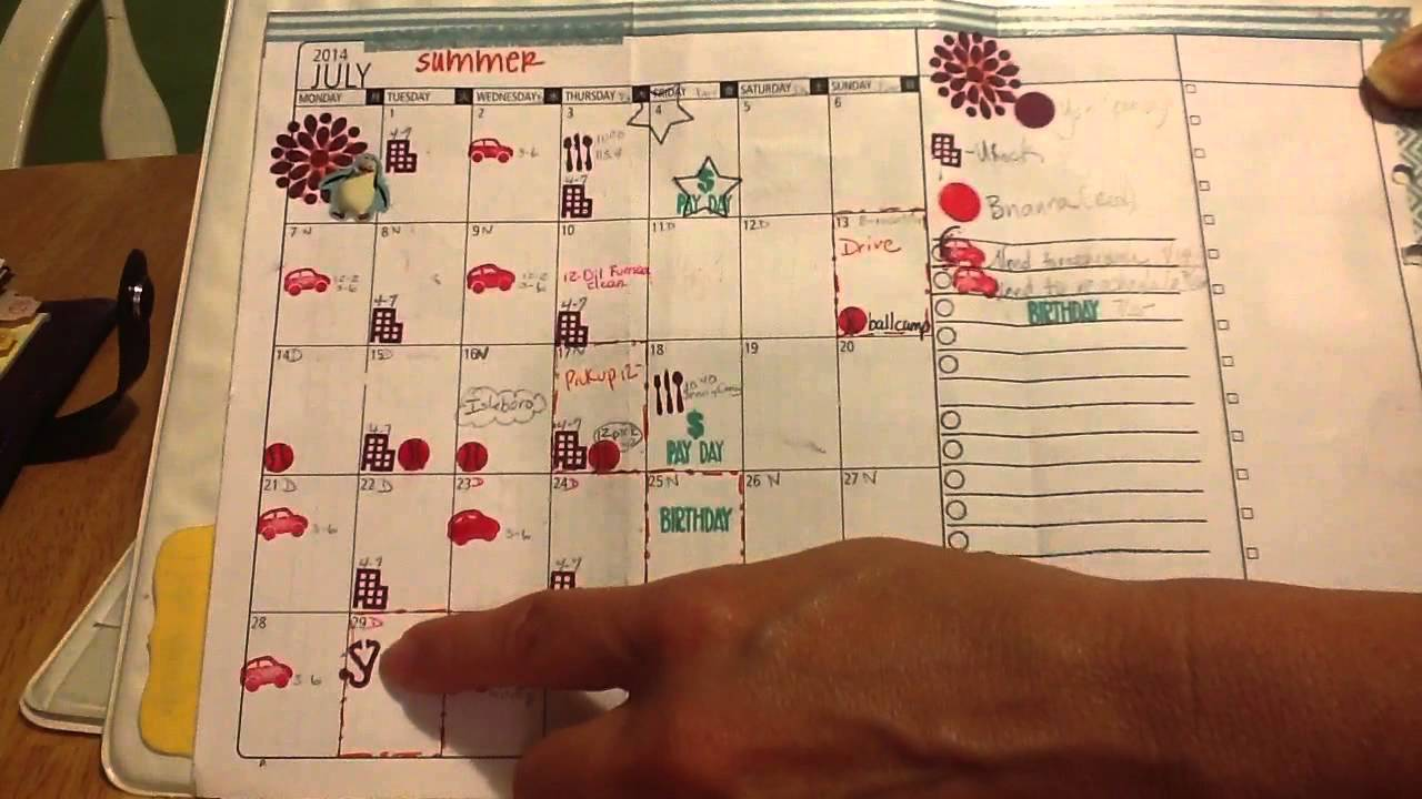 Diy Calendar Size : Diy fish s v monthly calendar personal size filofax part