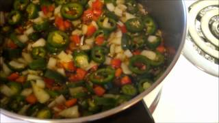 Making Bread And  Butter Jalapeno Peppers.wmv