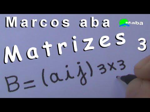 MATRIZES - Determine a matriz  A=(aij)3x3   onde, aij = i²+j   -   Aula 03