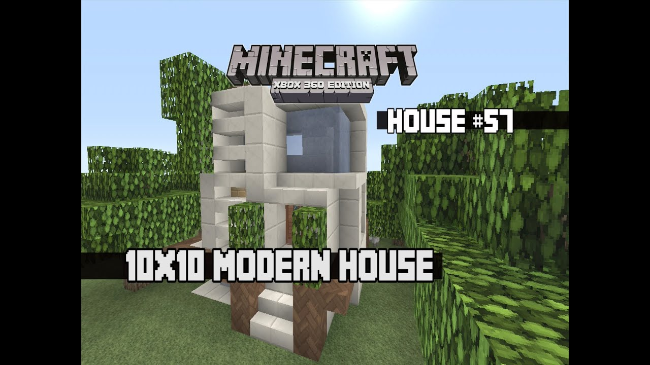 Minecraft xbox 360 10x10 modern house youtube for Tuto maison moderne minecraft xbox 360
