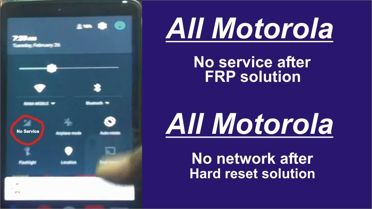 All Motorola No Service Solutiion Fix Without PC