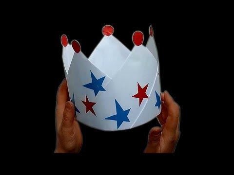 Как сделать Корону из БУМАГИ Оригами Корона из бумаги А4 Своими руками Бумажная корона