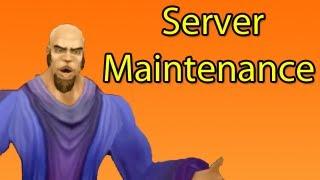 What Happens During Server Maintenance (WoW Machinima)