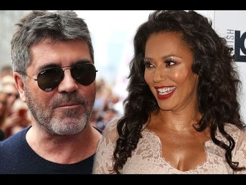 Mel B throws a full jug of water all over Simon Cowell during America's Got Talent