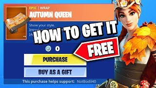 *NEW* HOW TO GET THE AUTUMN QUEEN WRAP LEAF MASK FOR FREE (LIMITED TIME) in Fortnite