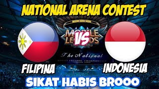 connectYoutube - LIVE ARENA KONTES !! SIKAT BUUOSSQQ  - INDONESIA VS FILIPINA   Mobile Legends 15 Maret 2018