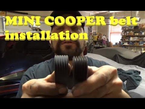 Mini Cooper Serpentine Drive Belt Pulley Tensioner kit Alternator Water Pump