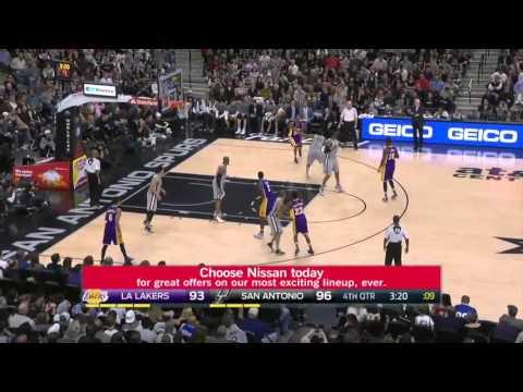 Los Angeles Lakers vs San Antonio Spurs   February 6, 2016   NBA 2015-16 Season