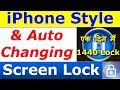 iPhone style Lock Screen for your android / Auto Changing PIN Locker