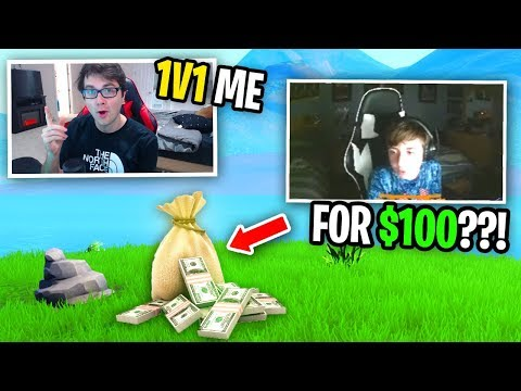 I challenged a TTV to 1v1 for $100 and this happened... (he accepted)