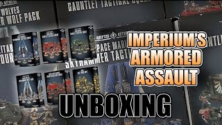 40k Armored Assault Space Marine Bundles - First Look Unboxing