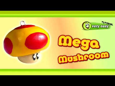 Polymer Clay Fimo - Mario Bros 1-Up and Super Mushroom *very easy Tutorial*