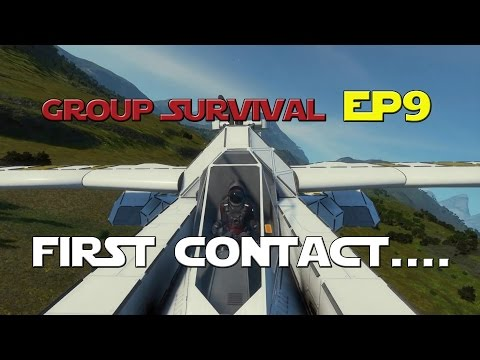 Space Engineers - Group Survival Series - Ep 9 - First Contact!