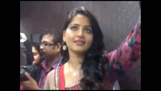 Anushka Shetty recent video opening the shipping mall with Sreesanth