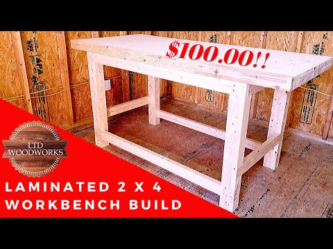My Laminated Pine 2 x 4 Workbench Build!