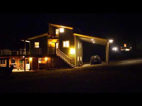 Arbutus Acres Salt Spring Island House Night - August 2017