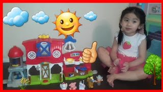 Learn Farm Animals with Fisher Price Little People Caring For Animals Farm