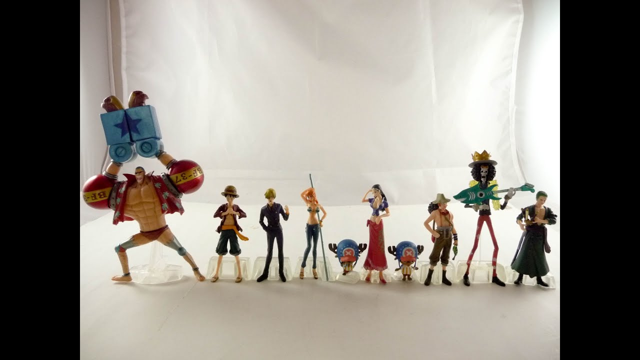 one piece figure figures set 10 pcs luffy nami franky japan collection zoro tony 4 6 13 youtube. Black Bedroom Furniture Sets. Home Design Ideas