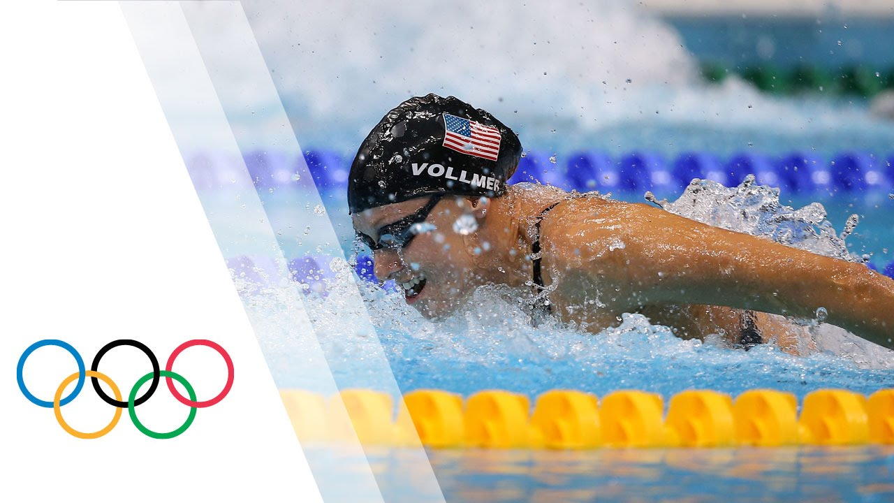 Image result for Vollmer Breaks World Record - Women's 100m Butterfly | London 2012 Olympics