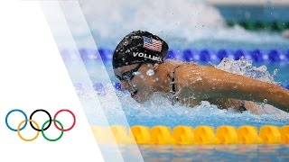 Dana Vollmer breaks World Record - Women's 100m Butterfly | London 2012 Olympics Games