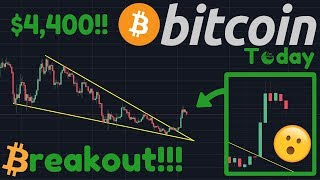 BITCOIN BREAKING OUT!!!   Wedge Target Is $4,400!   Institutional Investors Buying BTC!
