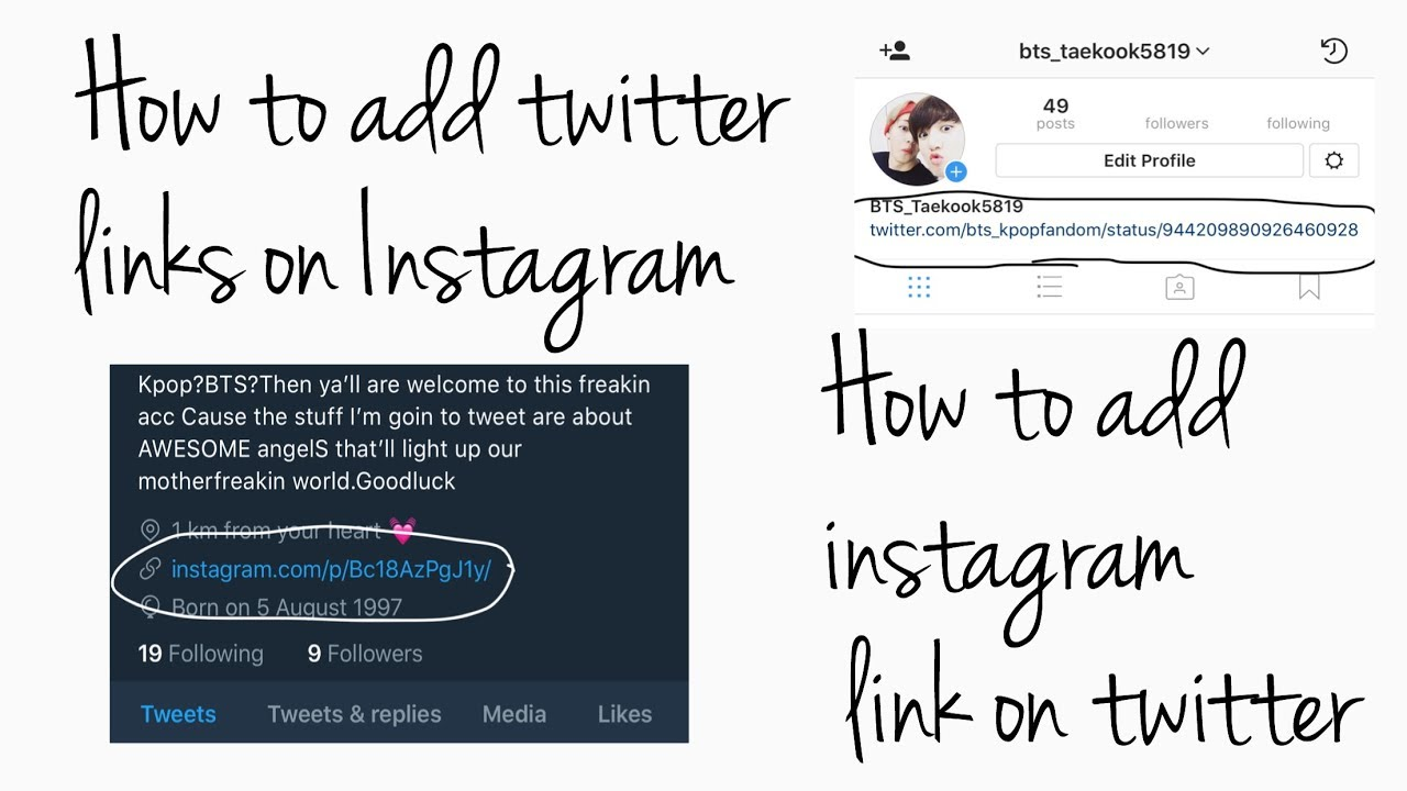 How to add twitter link on instagram how to add instagram link on how to add twitter link on instagram how to add instagram link on twitter ccuart Images