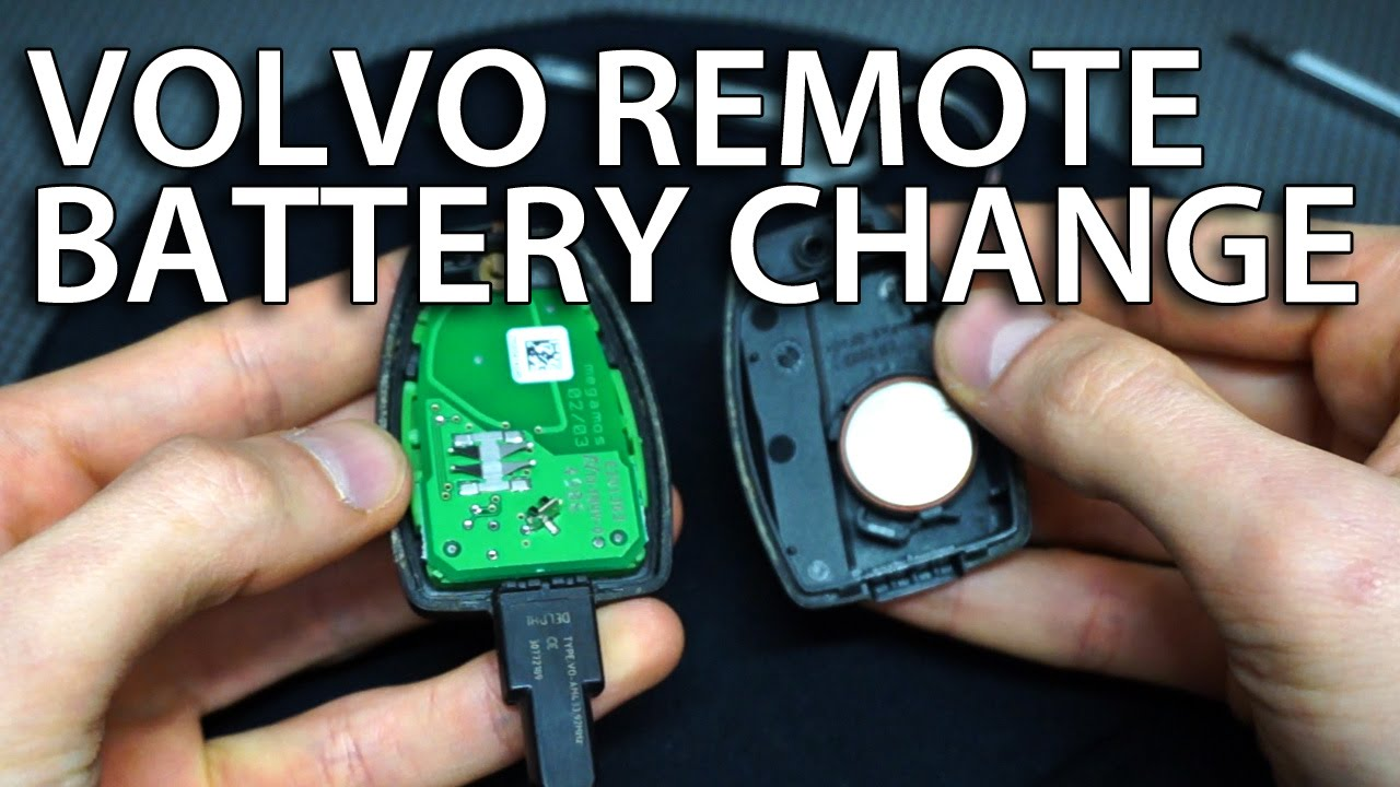 how o change volvo remote battery v50 s40 c30 c70 replace key fob cr2032 youtube. Black Bedroom Furniture Sets. Home Design Ideas