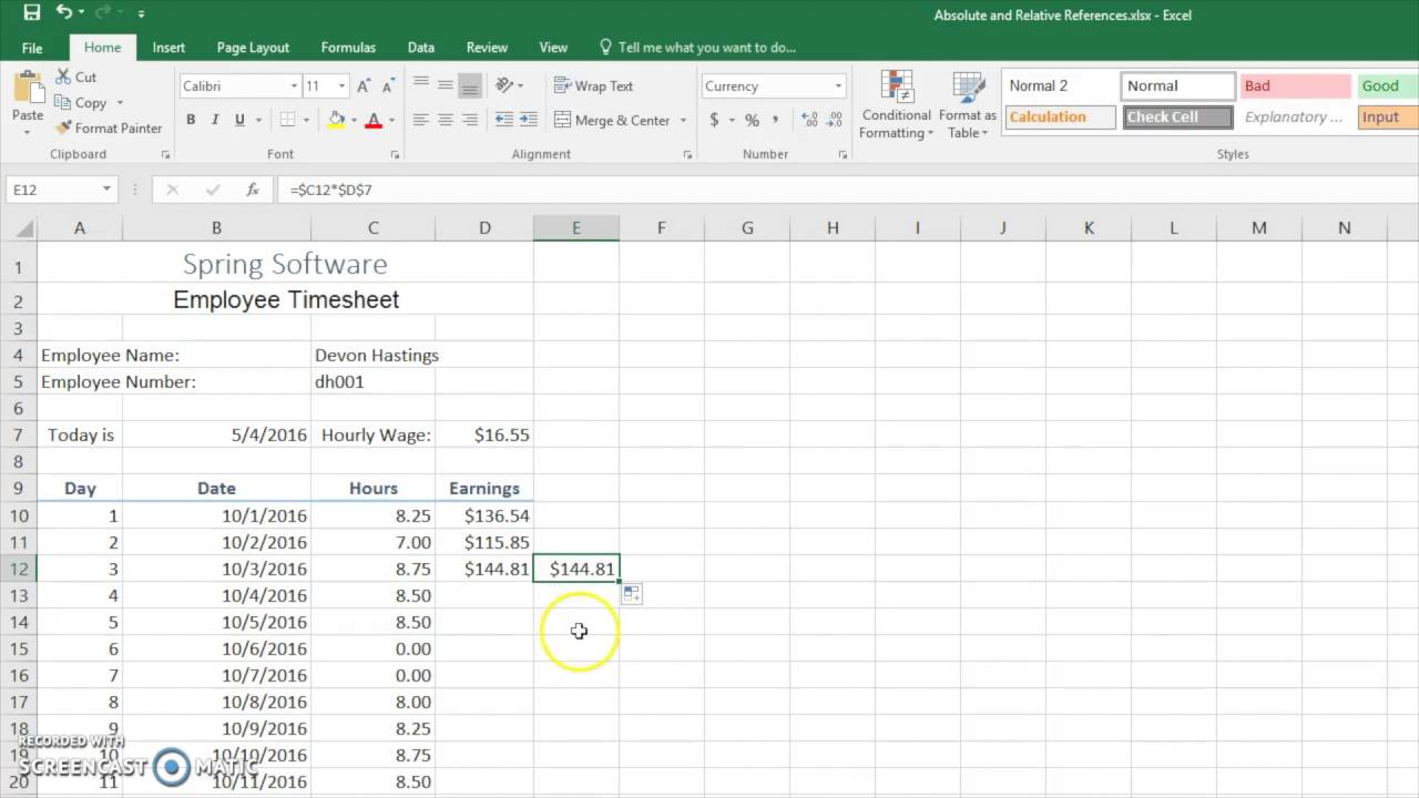 Excel references absolute relative dating 2