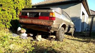 Audi coupe 1984 preparation for delivery