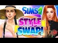 PREPPY TO GOTH?! 😱 - Style Swap Sims 4 CAS Challenge!