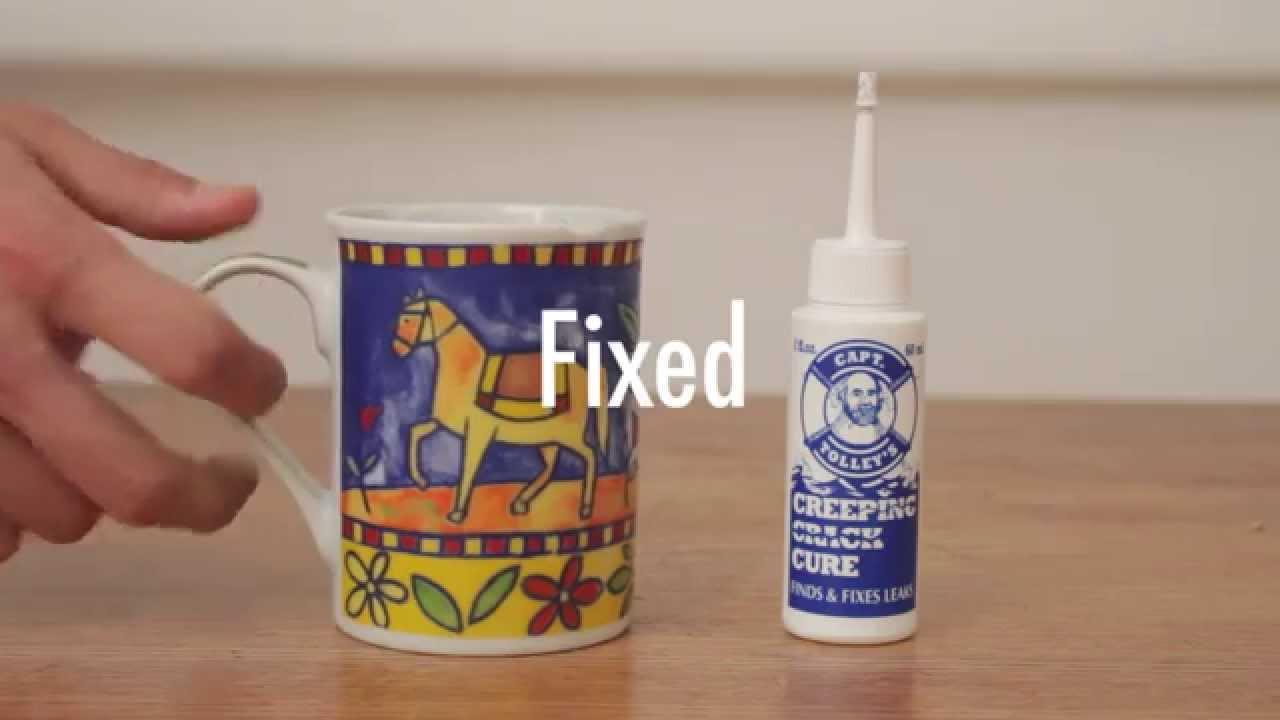 How To Use Captain Tolley S Liquid Glue Mug Fix Youtube