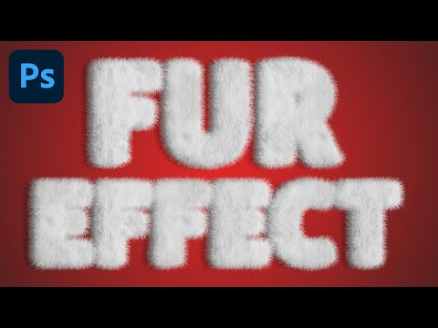 Adobe Photoshop - Fur Text Effect