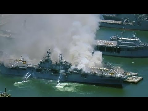 Usa, incendio a bordo di una nave militare: 21 feriti