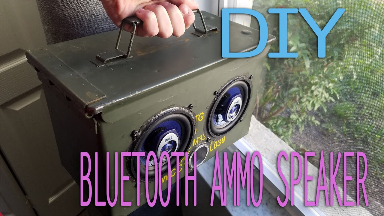 How To Build A Ammo Box Speaker Bluetooth Easy Diy Part 1 Youtube