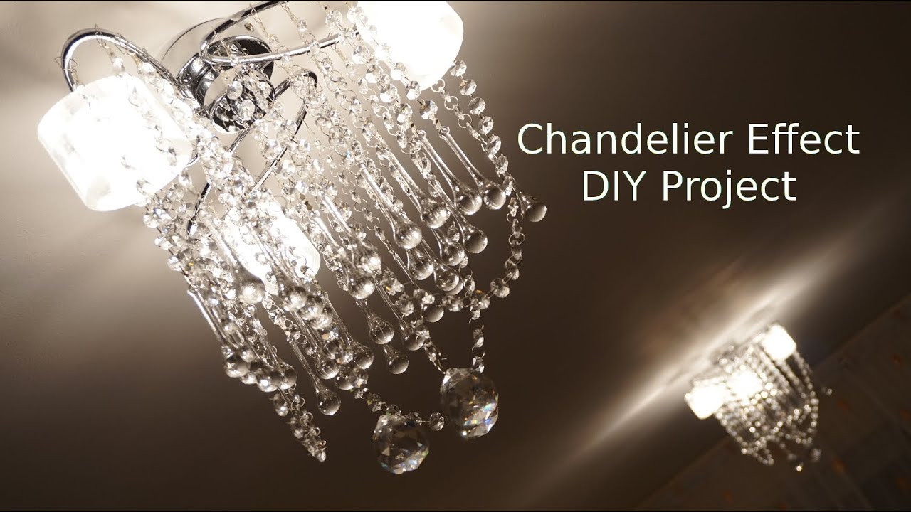 How to Glass Chandelier Effect ceiling light makeover DIY ...