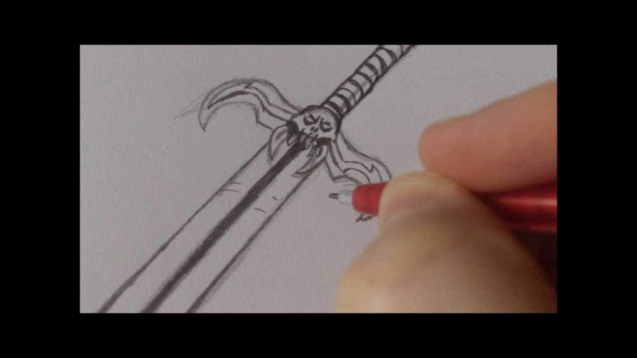 How to draw a fantasy sword weapon youtube