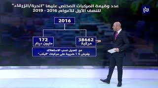 تعرف على تطور أعداد المركبات المخلص عليها خلال النصف الأول للأعوام 2006-2019 - (18-8-2019)