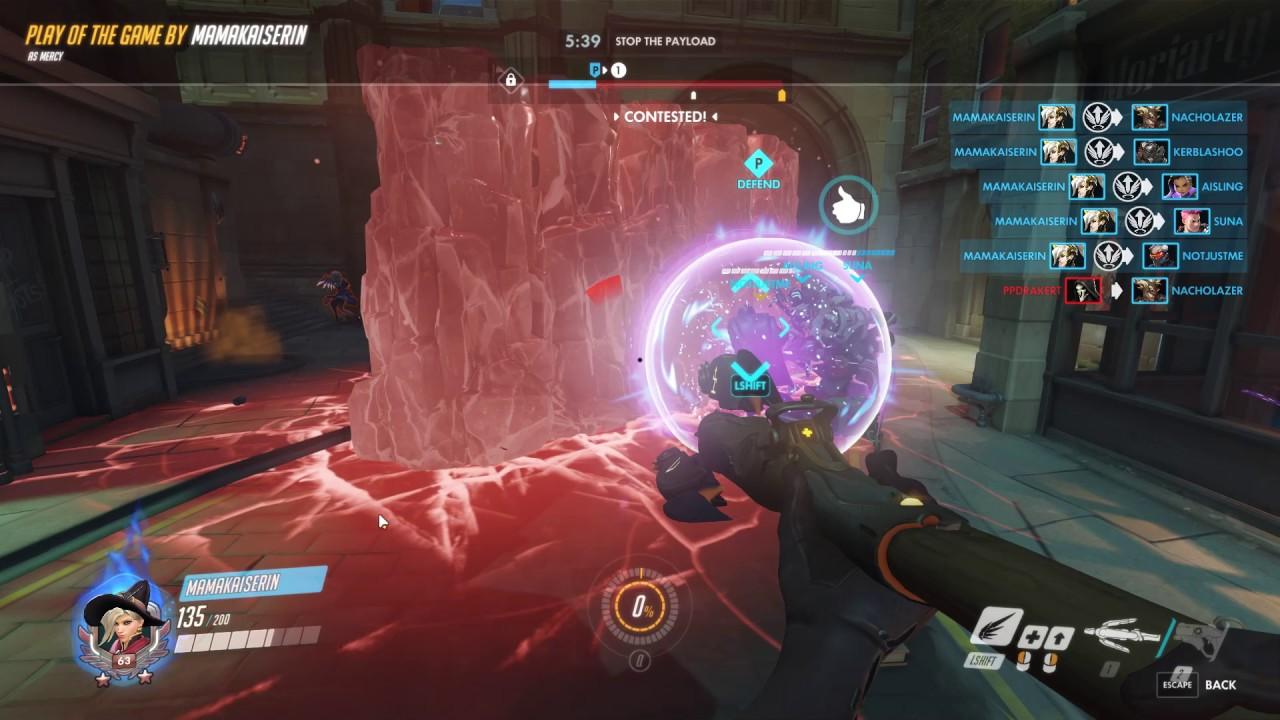 Overwatch: Mercy 5 man rez