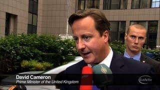 David Cameron Arrives at the European Council Summit - October 2012