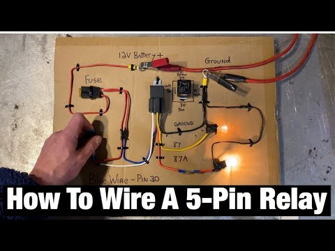 how to wire a 5 pin automotive relay pins 87/30/85/86/87a  bosch style  fans / fuel pump / lights