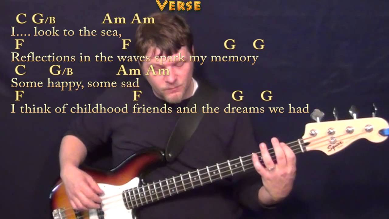 Come Sail Away Styx Bass Guitar Cover Lesson With Chordslyrics