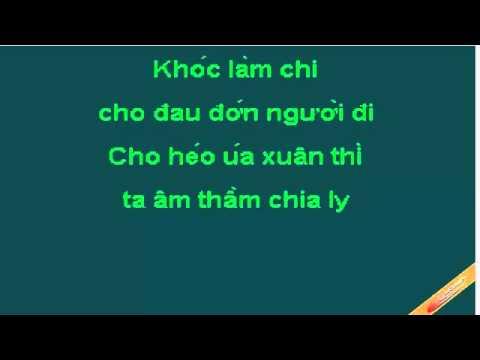 Karaoke Chuyen Buon Tinh Yeu (moi Nu CaSi)