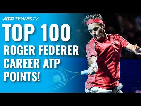 Top 100 Roger Federer career ATP points