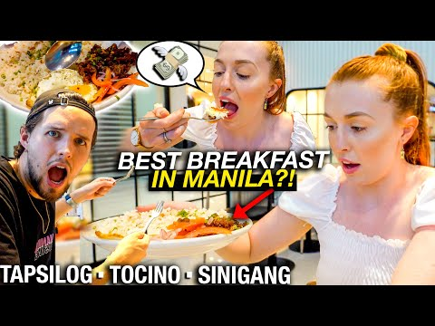 Trying The BEST FILIPINO SILOG BREAKFAST in Manila! (Is This Too Expensive?)