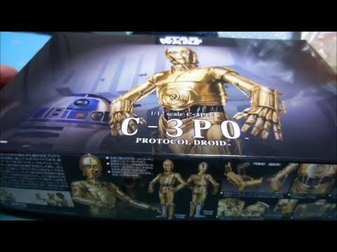 Bandai 1:12 C-3P0 + R2-D2 & R5-D4 plamo unboxings